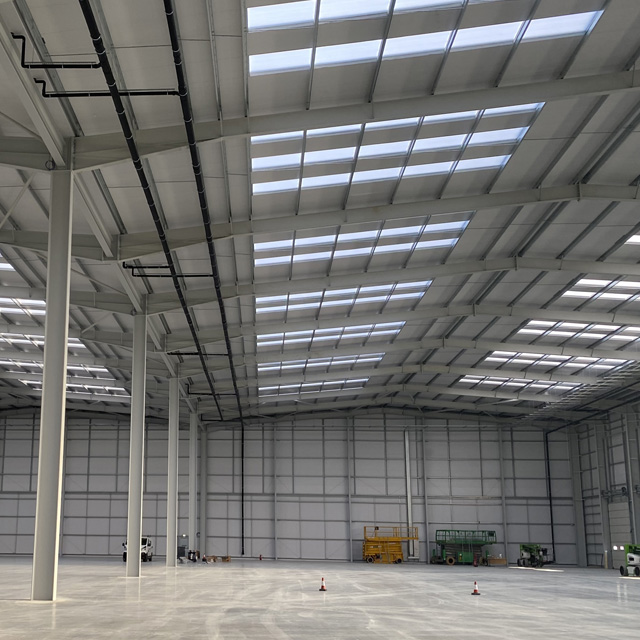 Commercial space at a completed project
